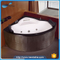 NTH china manufacturer classic home cane freestanding round inflatable hot tub with backrest