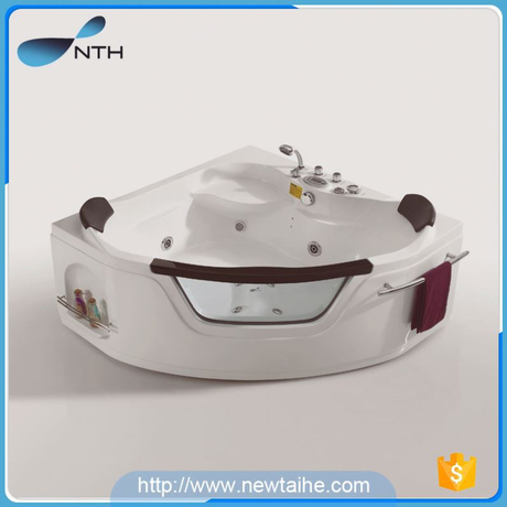 NTH online shop security ETL glass common walk in bathtub with function switch
