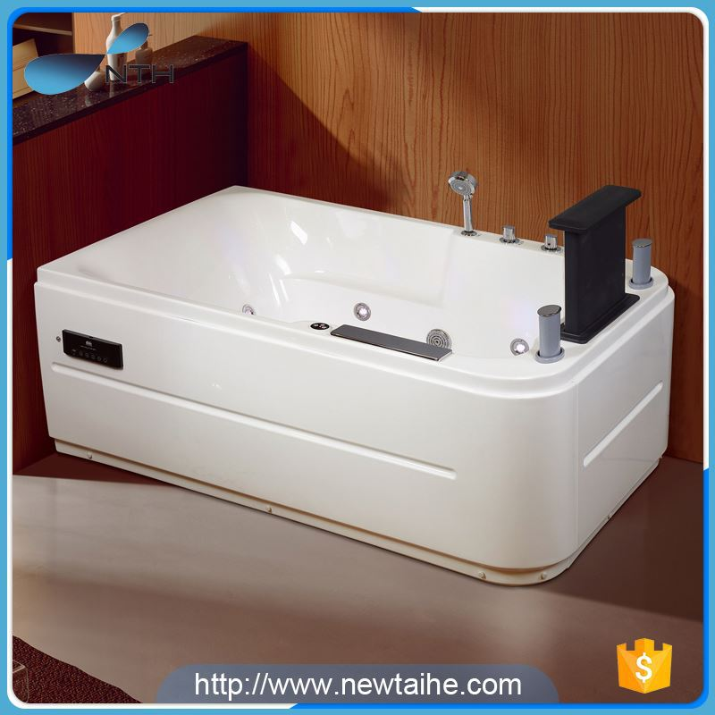 NTH best selling simple ISO ivory square bath tub