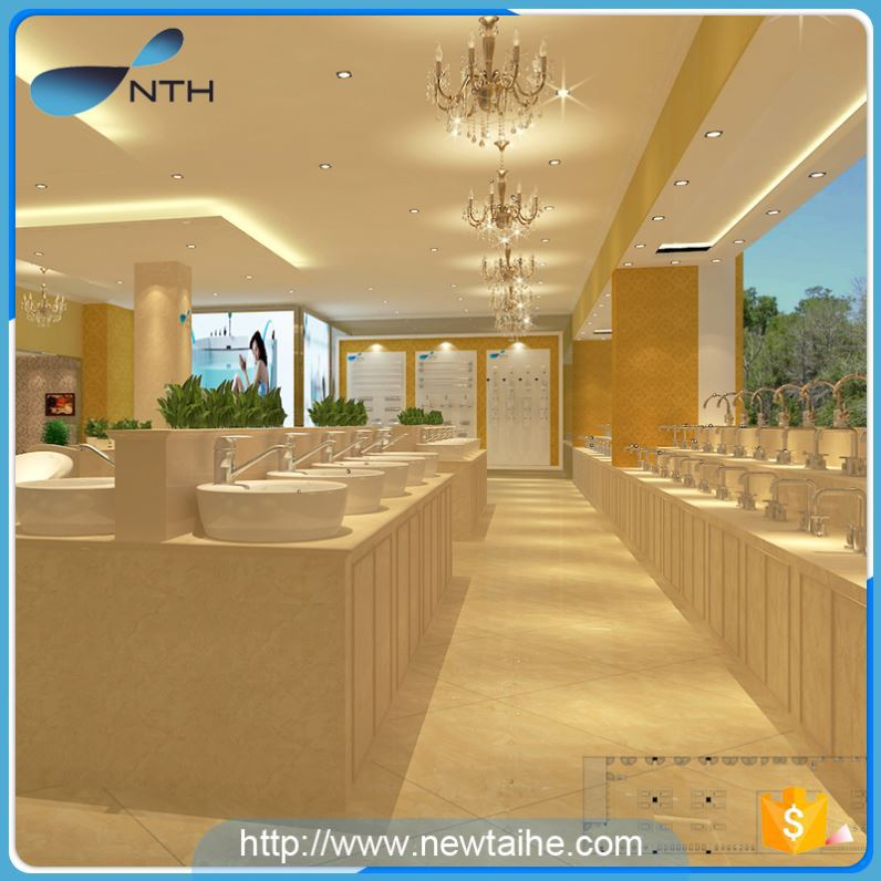 NTH best selling simple ISO 220V indoor wooden whirlpool massage bathtub with led light