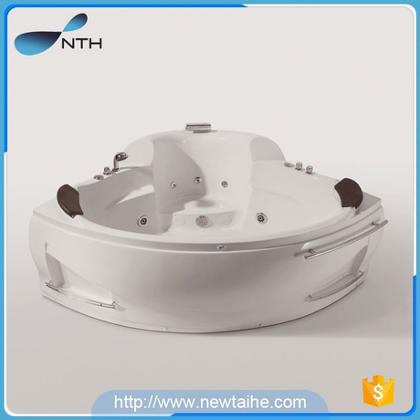 NTH sell online cheap price holiday house two adult whirlpool massage square outdoor tub spa with general switch