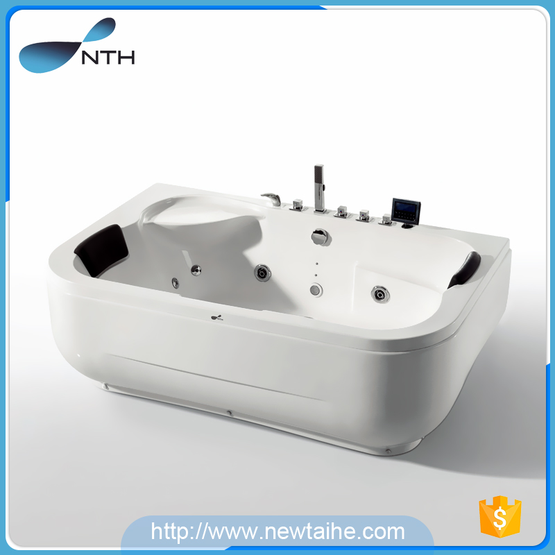 NTH gold supplier white acrylic 2 person portable free sex usa hot tub