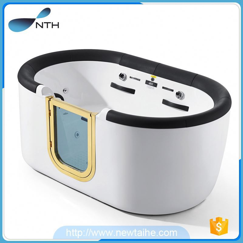 NTH online shop beauty hotel acrylic window massage bathtub with function switch