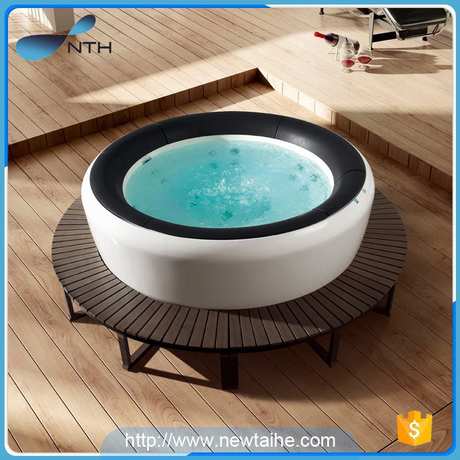 NTH china new products custom CUPC white indoor corner massage bathtub