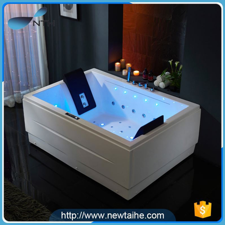 NTH china wholesale popular holiday house white rectangular shaped bathtub