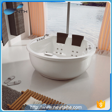 Cheap acrylic whirlpool round hotel bathtub