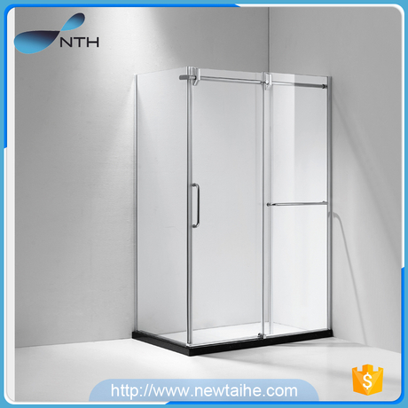 Glass enclosed indoor portable bathroom shower