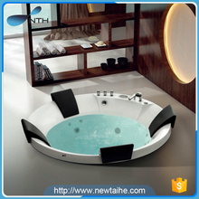 Freestanding hotel outdoor acrylic whirlpool shallow bathtub